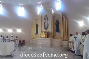 The dedication of the New Church of Mwanga Parish - Yesu Mwenye Huruma
