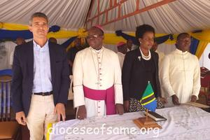 Blessing the 2 new dormitories of St. Joseph Technical School and 2 new classrooms, 40 bicycles for students and a tractor